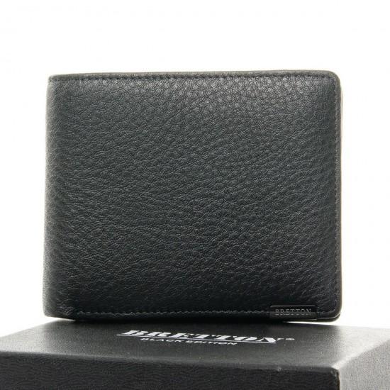 Чоловічий шкіряний портмоне BRETTON BE 208-0617 чорний