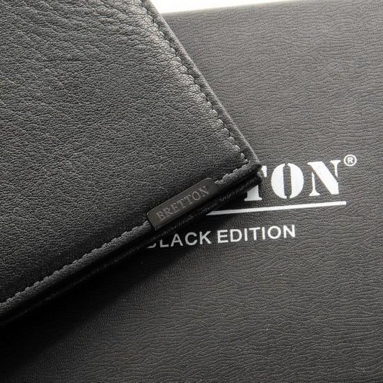 Чоловічий шкіряний портмоне BRETTON BE 208S чорний