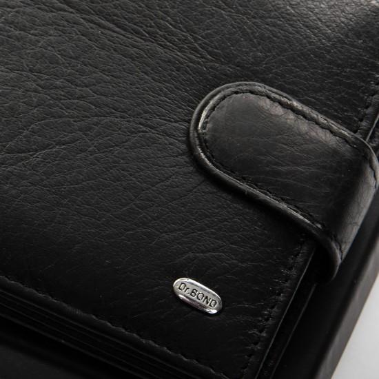 Мужской кожаный портмоне dr.Bond Classic M18055-1 черный