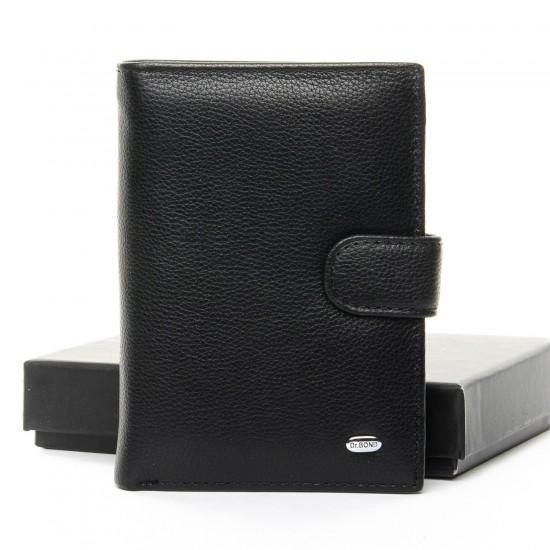 Чоловічий шкіряний портмоне dr.Bond Classic M25-1 чорний