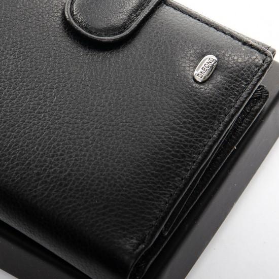 Чоловічий шкіряний портмоне dr.Bond Classic M32 чорний