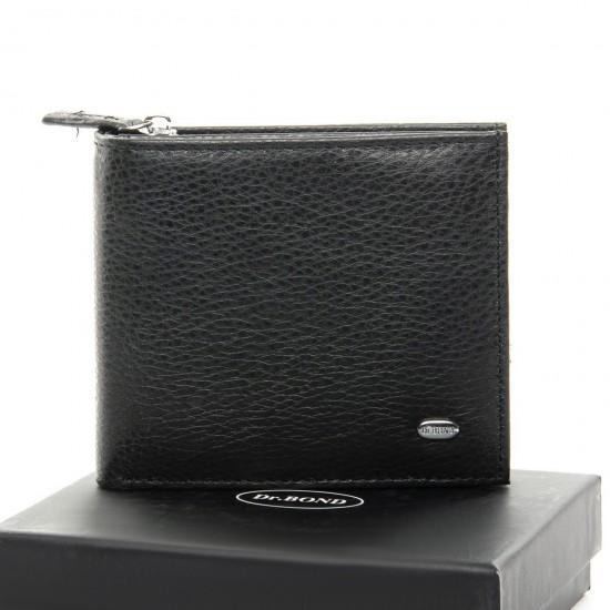 Чоловічий шкіряний портмоне dr.Bond Classic M54 чорний