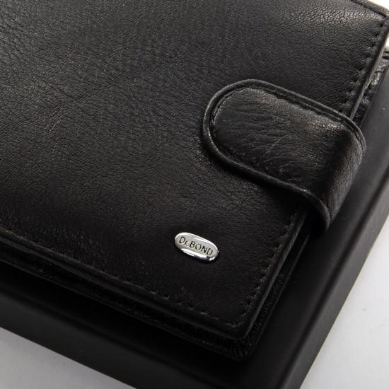 Чоловічий шкіряний портмоне dr.Bond Classic M59-1 чорний
