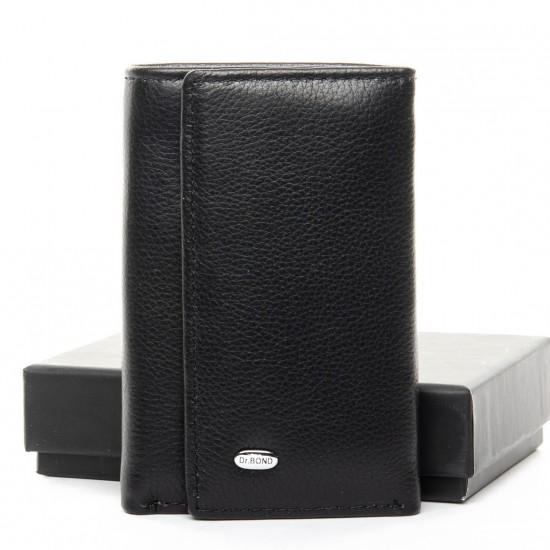 Мужской кожаный кошелек-ключница dr.Bond Classic M6 черный