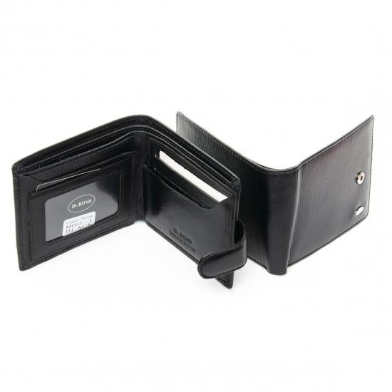 Чоловічий шкіряний портмоне dr.Bond Classic M60-1 чорний