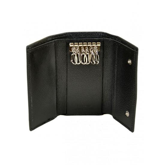 Мужской кожаный кошелек-ключница dr.Bond Classic M7 черный