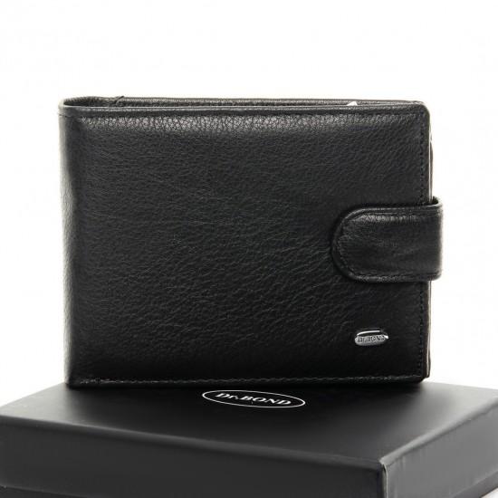 Чоловічий шкіряний портмоне dr.Bond Classic M8-1 чорний