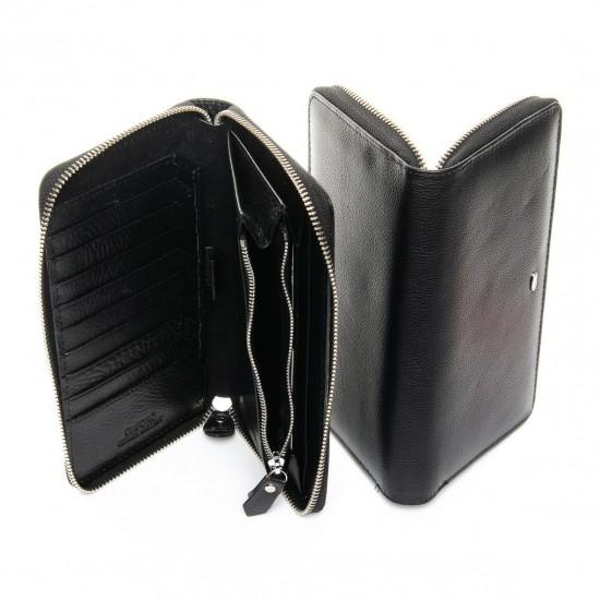 Чоловічий шкіряний портмоне dr.Bond Classic MS-11 чорний