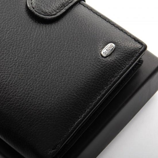 Чоловічий шкіряний портмоне dr.Bond Classic MS-14 чорний