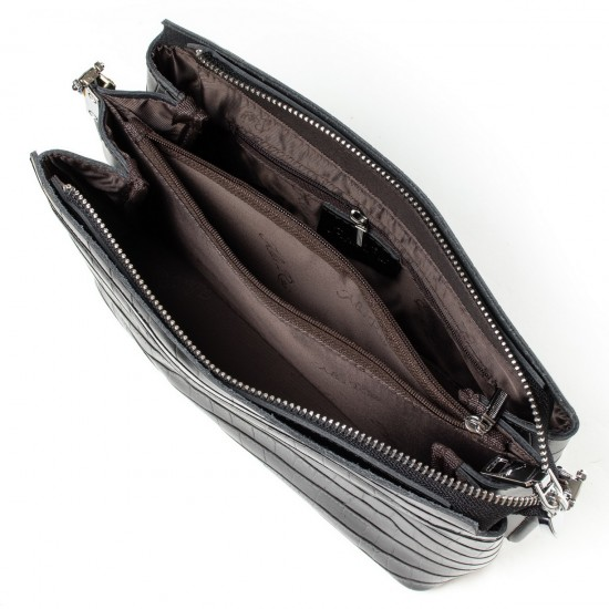 Женская сумочка из натуральной кожи ALEX RAI 3203 черный