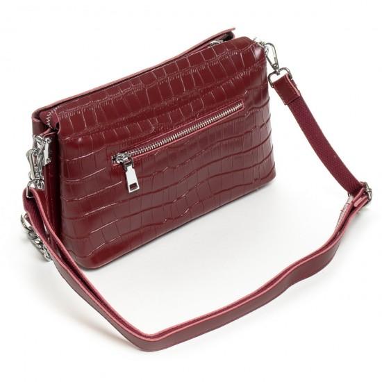 Женская сумочка из натуральной кожи ALEX RAI 3203 бордовый
