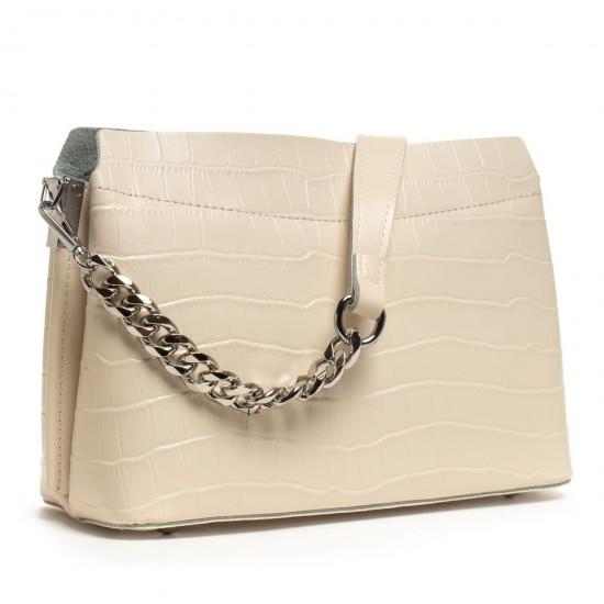 Женская сумочка из натуральной кожи ALEX RAI 3203 бежевый