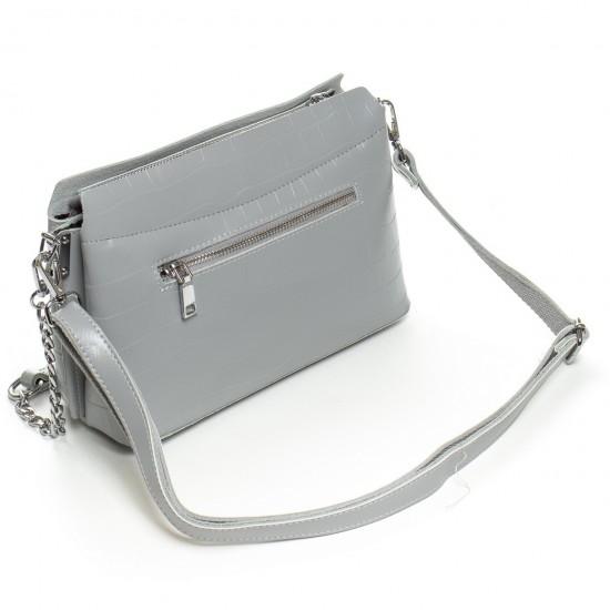 Женская сумочка из натуральной кожи ALEX RAI 3203 серый
