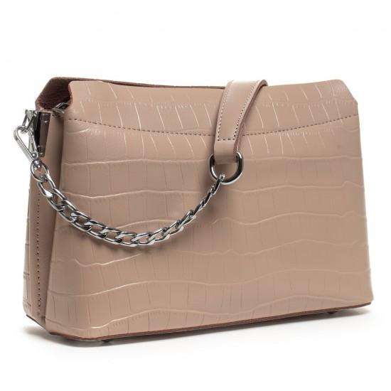 Женская сумочка из натуральной кожи ALEX RAI 3203 пудра