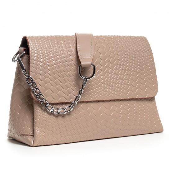 Жіноча сумочка з натуральної шкіри ALEX RAI J009-1 пудра
