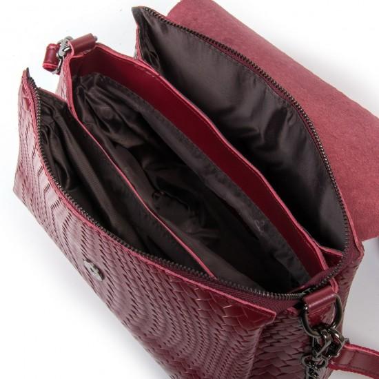 Женская сумочка из натуральной кожи ALEX RAI J009-1 бордовый