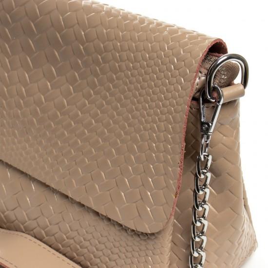 Женская сумочка из натуральной кожи ALEX RAI J009-1 темно-бежевый