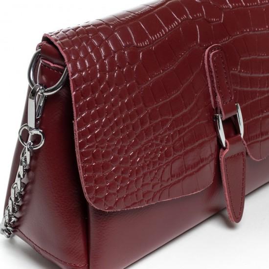 Женская сумочка из натуральной кожи ALEX RAI 8778 бордовый