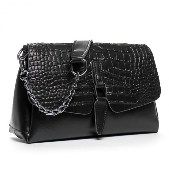 Жіноча сумочка з натуральної шкіри ALEX RAI 8778 чорний