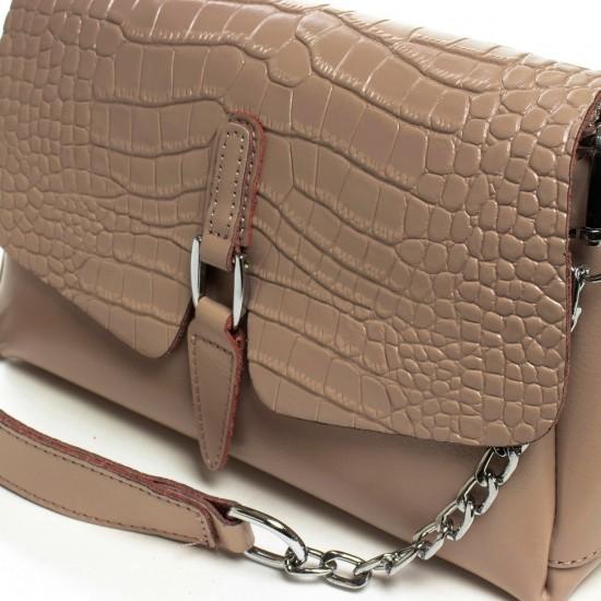 Жіноча сумочка з натуральної шкіри ALEX RAI 8778 темно-бежевий