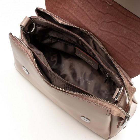 Жіноча сумочка з натуральної шкіри ALEX RAI 8778 пудра