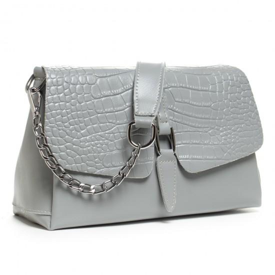 Жіноча сумочка з натуральної шкіри ALEX RAI 8778 сірий