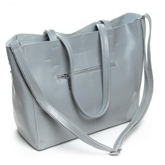 Жіноча сумка з натуральної шкіри ALEX RAI 8630 сірий