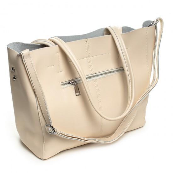 Жіноча сумка з натуральної шкіри ALEX RAI 8630 бежевий