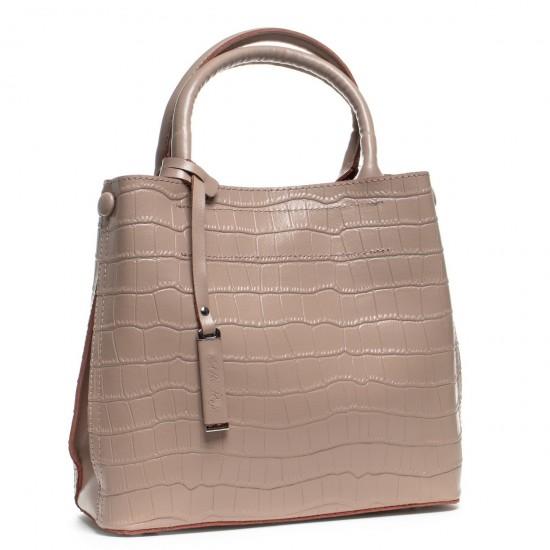 Жіноча сумка з натуральної шкіри ALEX RAI 1546 пудра