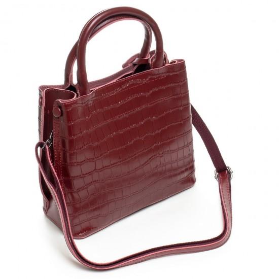 Жіноча сумка з натуральної шкіри ALEX RAI 1546 бордовий