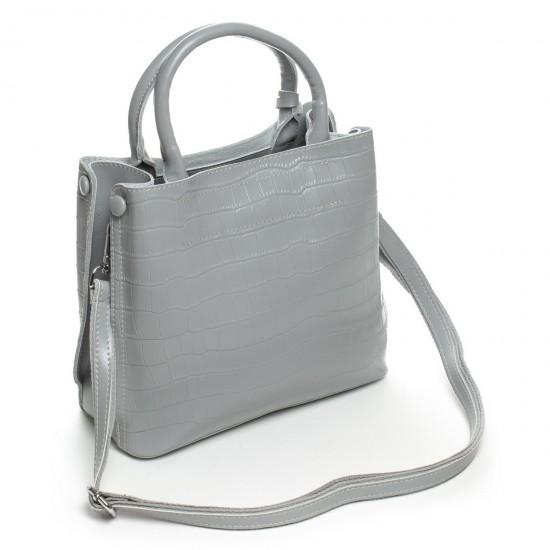 Женская сумка из натуральной кожи ALEX RAI 1546 серый