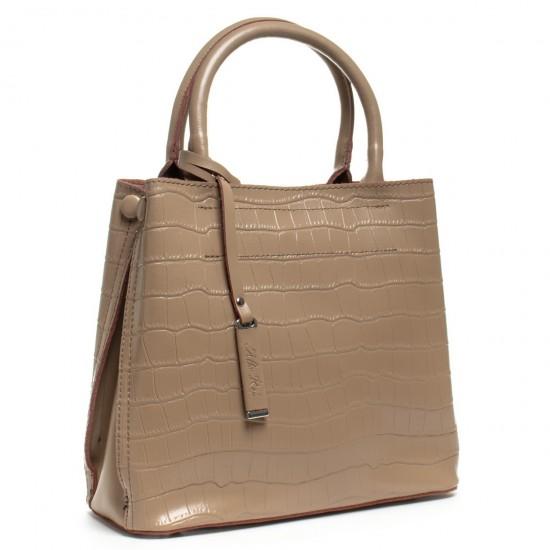 Жіноча сумка з натуральної шкіри ALEX RAI 1546 темно-бежевий