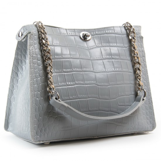 Жіноча сумка з натуральної шкіри ALEX RAI 3202-1 сірий