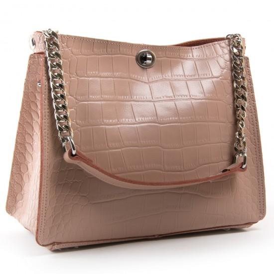 Жіноча сумка з натуральної шкіри ALEX RAI 3202-1 пудра