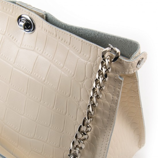 Жіноча сумка з натуральної шкіри ALEX RAI 3202-1 бежевий