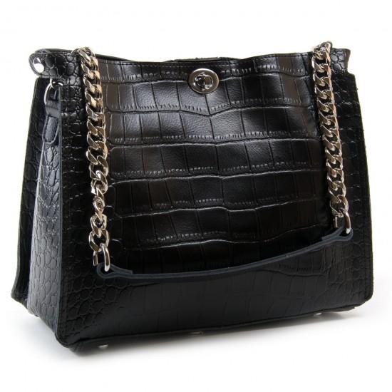Жіноча сумка з натуральної шкіри ALEX RAI 3202-1 чорний