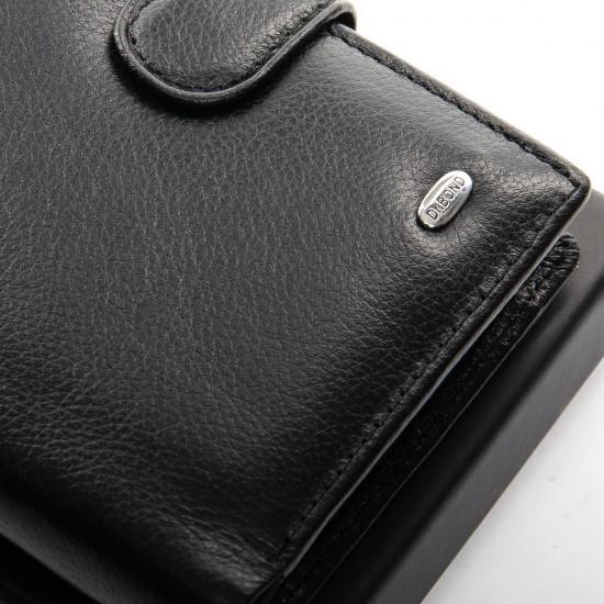 Чоловічий шкіряний портмоне dr.Bond Classic MS-30 чорний