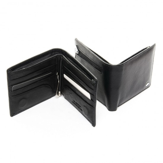 Мужской кожаный портмоне dr.Bond Classic MSM-3 черный