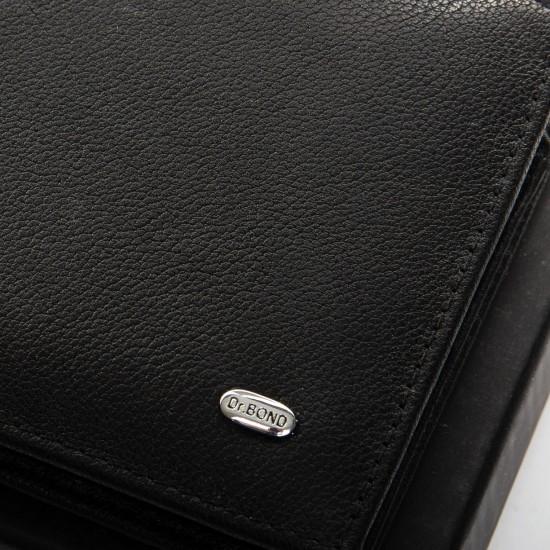 Мужской кожаный портмоне dr.Bond Classic MSM-4 черный