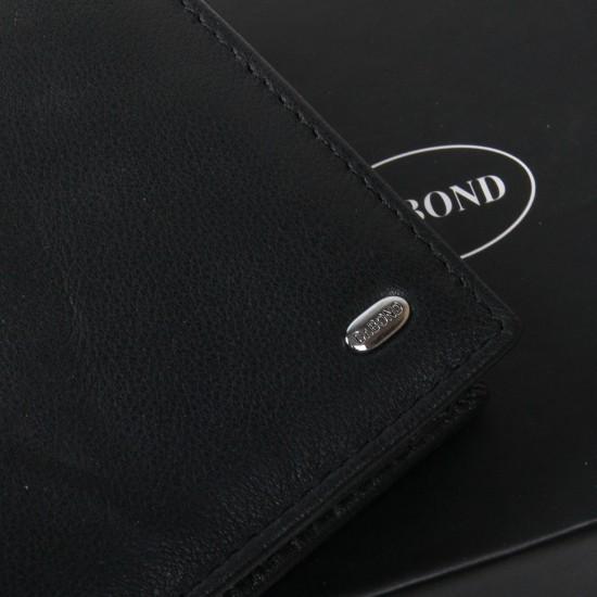 Мужской кожаный портмоне dr.Bond Classic MSM-5 черный