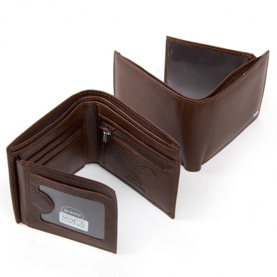 Мужской кожаный портмоне dr.Bond Classic MSM-5 кофейный