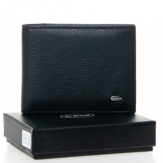 Чоловічий шкіряний портмоне dr.Bond Classic MSM-8 чорний