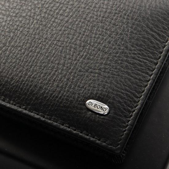 Чоловічий шкіряний портмоне dr.Bond Classic MZS-3 чорний