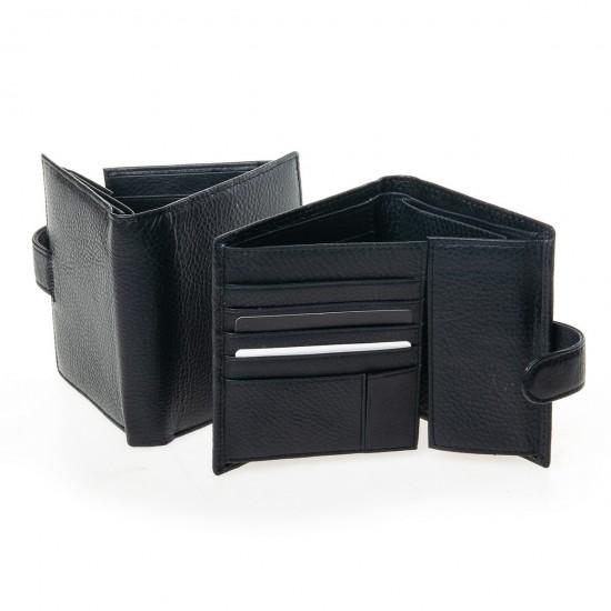 Чоловічий шкіряний портмоне dr.Bond Classic M183-1 чорний