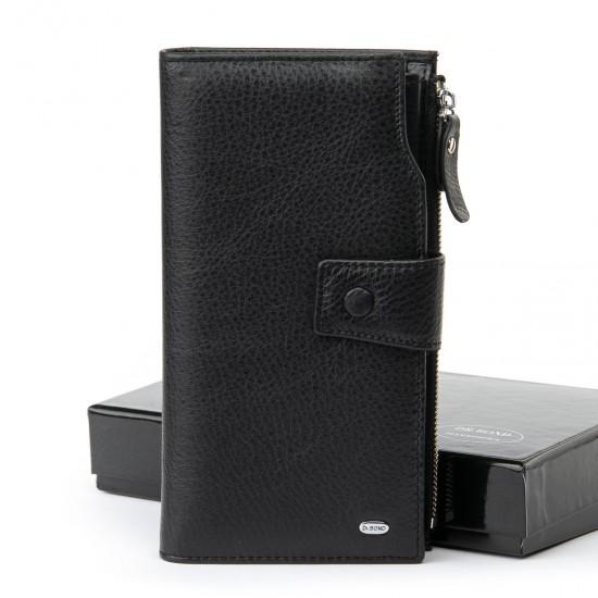 Мужской кожаный портмоне dr.Bond Classic MB-2 черный