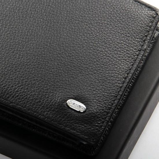 Чоловічий шкіряний портмоне dr.Bond Classic M61 чорний