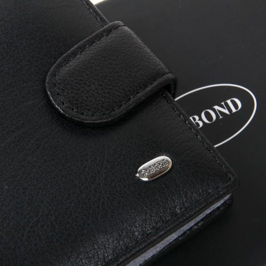Чоловічий шкіряний портмоне dr.Bond Classic MS-34 чорний