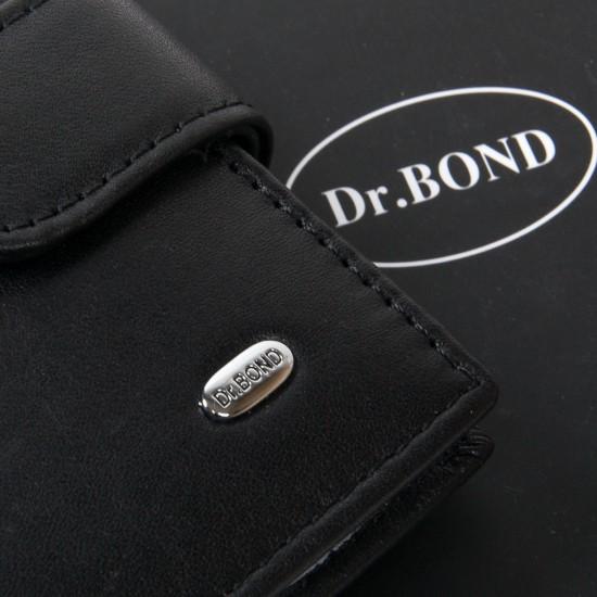 Мужской кожаный портмоне dr.Bond Classic MS-36 черный