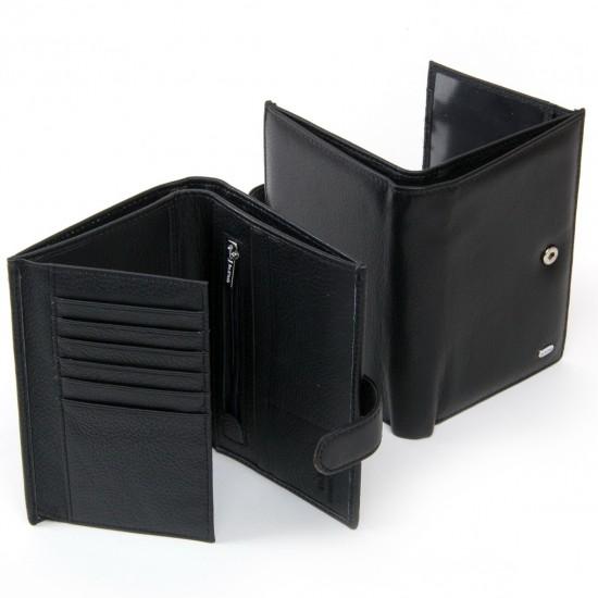Мужской кожаный портмоне dr.Bond Classic MS-38 черный