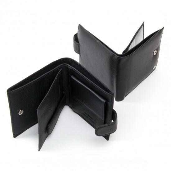 Мужской кожаный портмоне dr.Bond Classic MS-39 черный